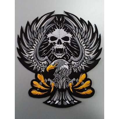 Eagle with Skull black