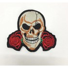 Skull and two roses