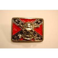 3-D Rebel Flag Skull pin
