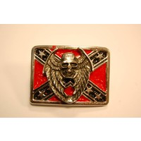 3-D Rebel Flag Angel of Death pin