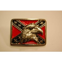 3-D Rebel Flag Eagle Head pin