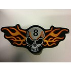 8 balls skull and flames 658 R