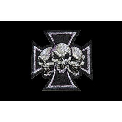 Maltezer cross 3 skulls