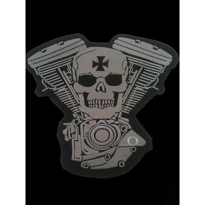 Skull and Engine light grey