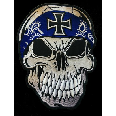 Skull with Bandana blue 656 R
