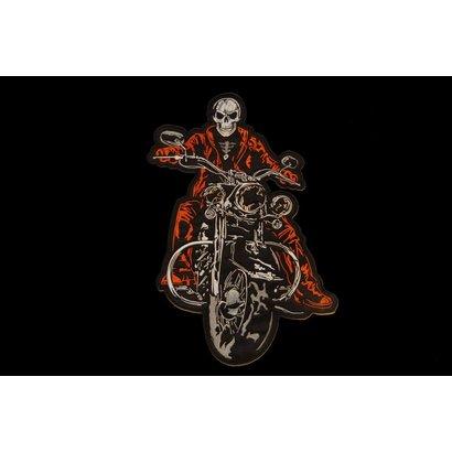 The Biker patch orange