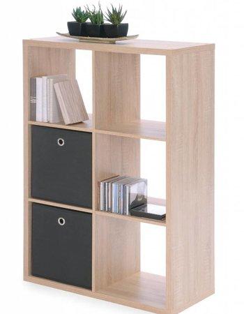 Finori Raumteiler Regal Bücherregal 6er Sonoma Eiche