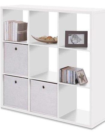Finori Raumteiler-Regal-Bücherregal 9er weiß