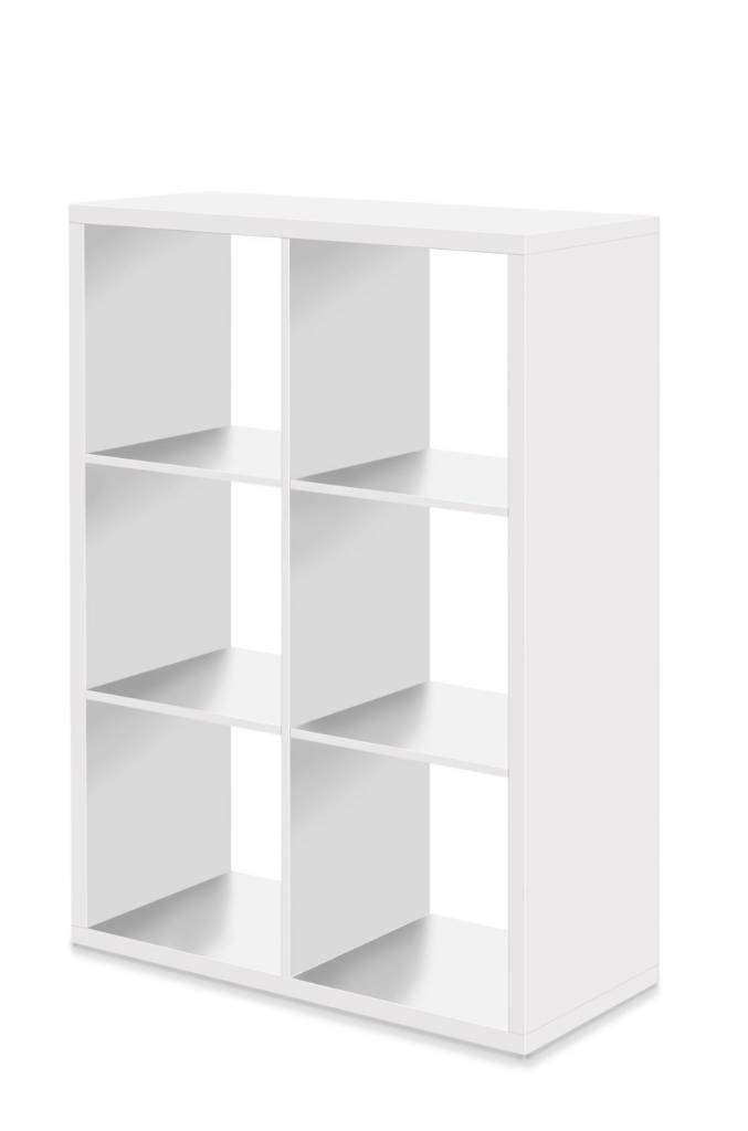 finori raumteiler regal b cherregal 6er wei www. Black Bedroom Furniture Sets. Home Design Ideas