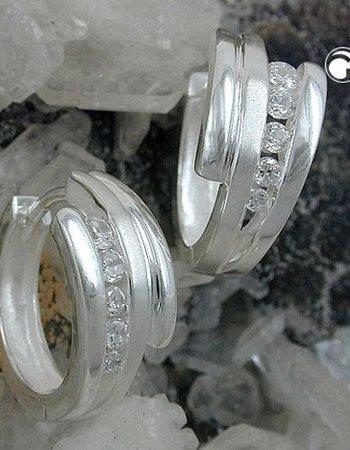 Gallay Creole, 5x Zirkonia Silber 925