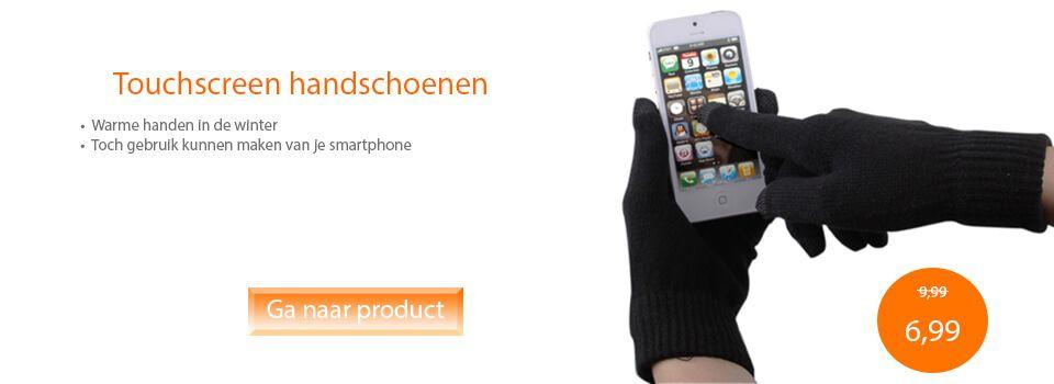 Slider touchscreen handschoenen