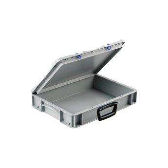 Basicline kunststof koffer afm. 400x300x85 mm, één handgreep