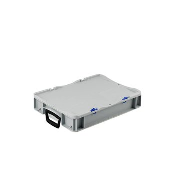 Basicline kunststof koffer afm. 400x300x85 mm, twee handgrepen