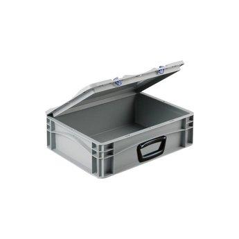 Basicline kunststof koffer afm. 400x300x135 mm, één handgreep