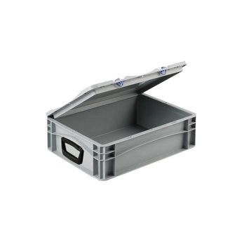 Basicline kunststof koffer afm. 400x300x135 mm, twee handgrepen