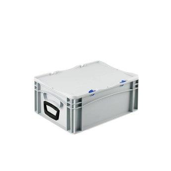 Basicline kunststof koffer afm. 400x300x185 mm, twee handgrepen