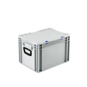 Basicline kunststof koffer afm. 400x300x285 mm, twee handgrepen
