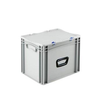 Basicline kunststof koffer afm. 400x300x335 mm, één handgreep