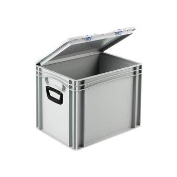 Basicline kunststof koffer afm. 400x300x335 mm, twee handgrepen