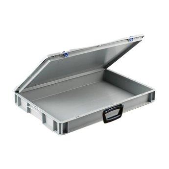 Basicline kunststof koffer afm. 600x400x85 mm, één handgreep