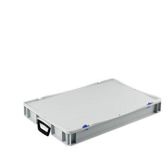 Basicline kunststof koffer afm. 600x400x85 mm, twee handgrepen