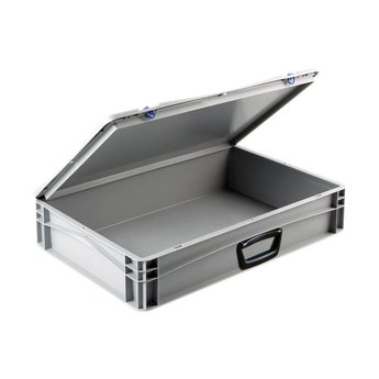Basicline kunststof koffer afm. 600x400x135 mm, één handgreep