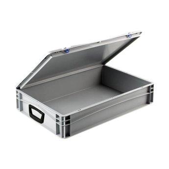 Basicline kunststof koffer afm. 600x400x135 mm, twee handgrepen