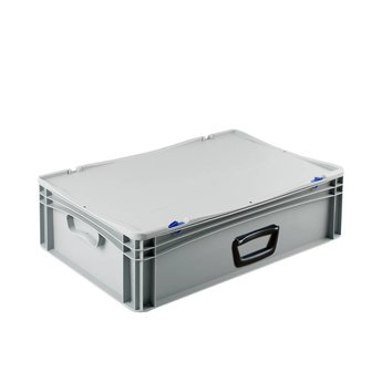 Basicline kunststof koffer afm. 600x400x185 mm, één handgreep