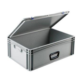 Basicline kunststof koffer afm. 600x400x235 mm, één handgreep