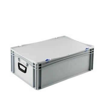 Basicline kunststof koffer afm. 600x400x235 mm, twee handgrepen
