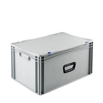 Basicline kunststof koffer afm. 600x400x335 mm, één handgreep