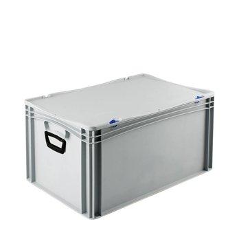Basicline kunststof koffer afm. 600x400x335 mm, twee handgrepen