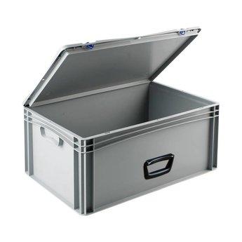 Basicline kunststof koffer afm. 600x400x285 mm, één handgreep