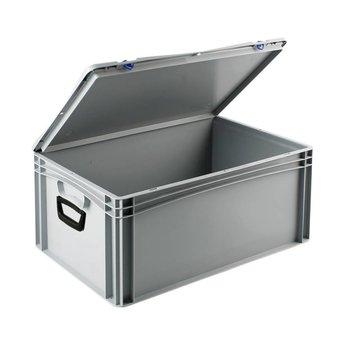 Basicline kunststof koffer afm. 600x400x285 mm, twee handgrepen