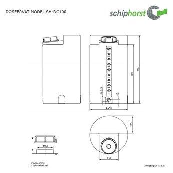 Schiphorst kunststof doseervat 100 liter