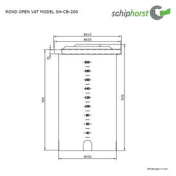 Schiphorst kunststof doseervat 200 liter