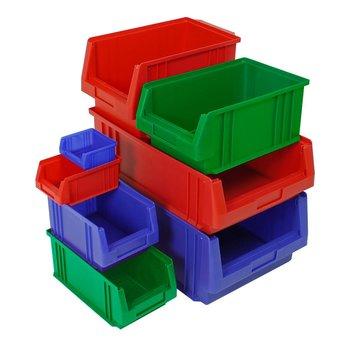 Mini magazijnbakken 330x213 x 150 mm | doos 10 stuks
