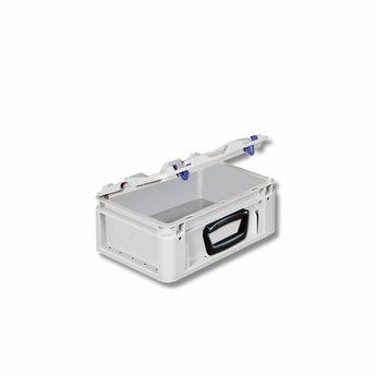Silverline kunststof koffer afm. 300x200x137 mm, één handgreep