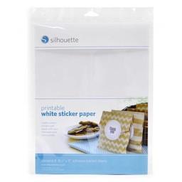 Silhouette Witte Stickervellen