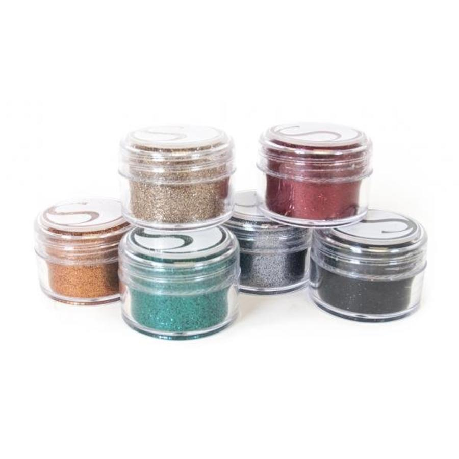Glitter-Assorted Bold Colors, 20ml jars