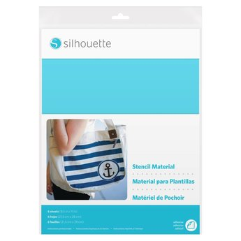 Silhouette Stencil Material Sheets - Adhesive (6 sheets, 21.5cm x 27.9cm)