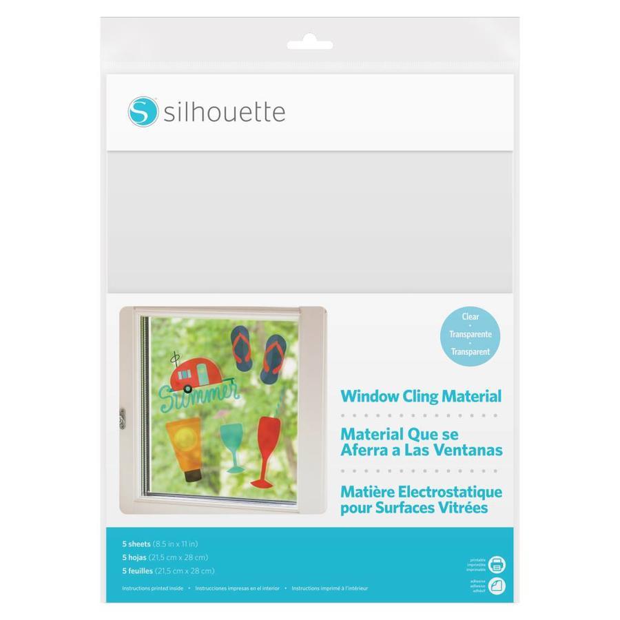 Feuilles électrostatique imprimables - Transparent SILHOUETTE-1