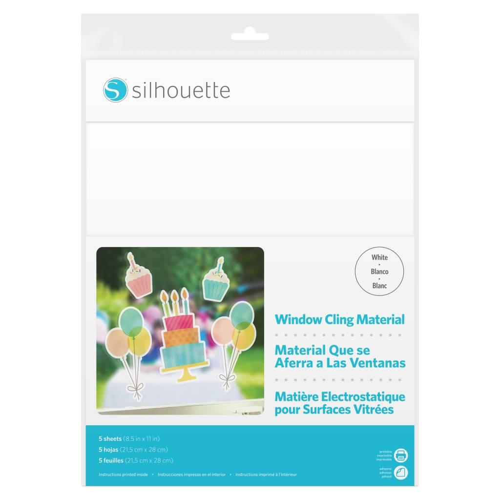 Silhouette Feuilles électrostatique imprimables - Blanc SILHOUETTE