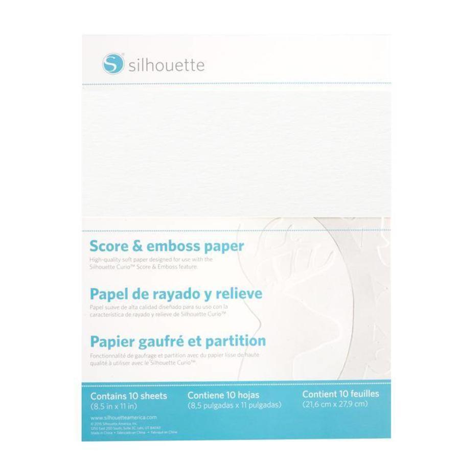 Papier à Embosser (21,5 x 27,9cm) SILHOUETTE