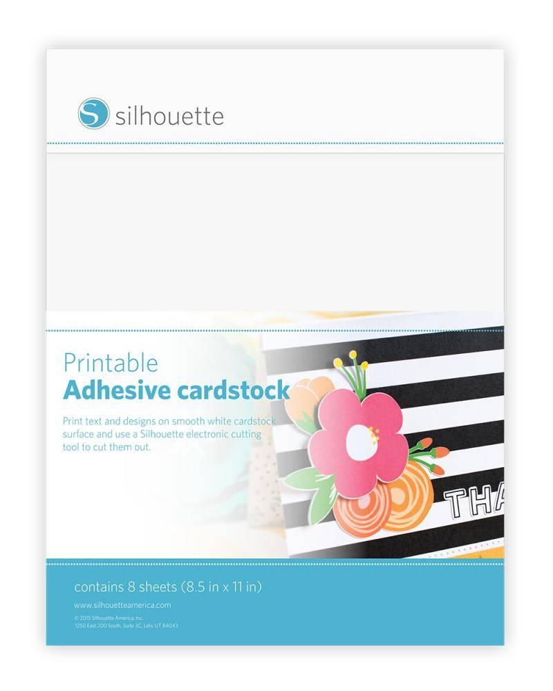 Silhouette Printable Adhesive Cardstock