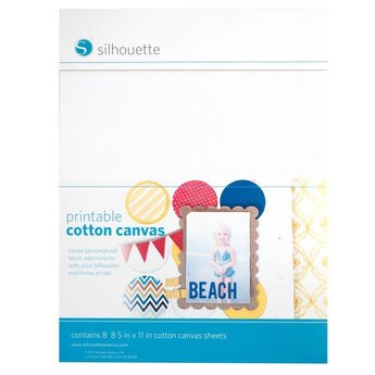 Silhouette Printable Cotton Canvas