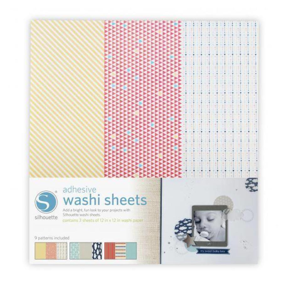 Feuilles de Papier Washi Adhésif SILHOUETTE-1