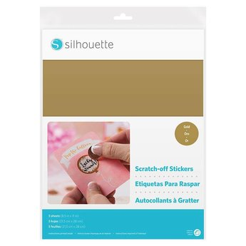 Silhouette Scratch-off Sticker Sheets - Gold