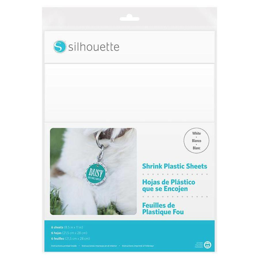 Shrink Plastic Sheets - White-1