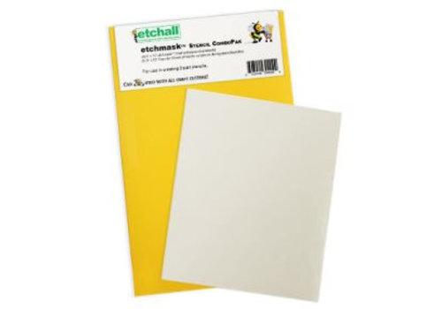 Etchall Etchmask Stencil ComboPak